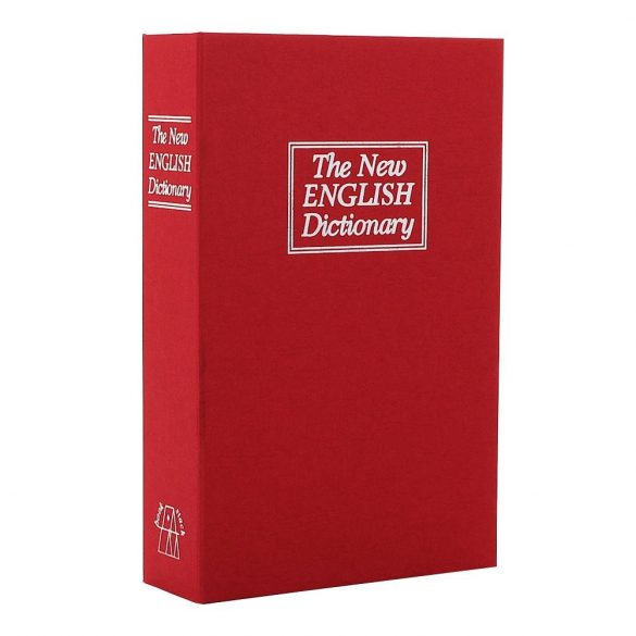 Casetă tip carte pentru bani  BookSafe Medium roșu