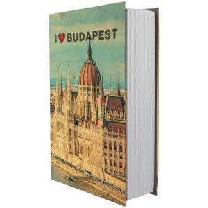 Casetă tip carte pentru bani  BUDAPESTA numeric
