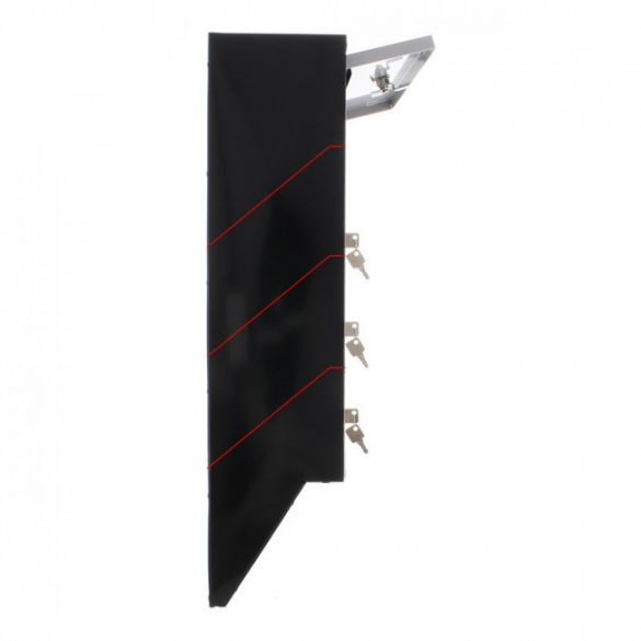 Cutie poștală Glory 4 Argintiu/ Negru   600 x 385 x 140 mm 4,8 kg