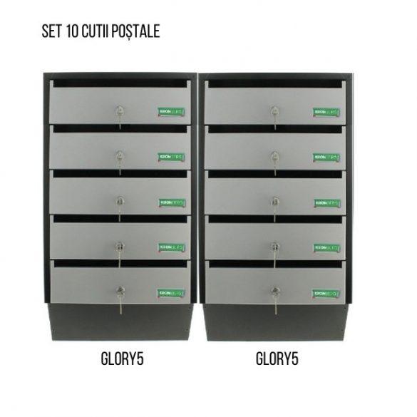 Cutie poștală Glory 5 Argintiu/ Negru  715 x 385 x 140 mm 5,6 kg
