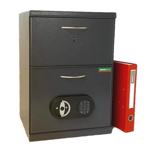Seif certificat antiefractie caserie Kronberg550 cheie/electronic 550x380x350 mm EN14450/S1