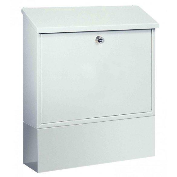 Cutie poștală Villa-Set alb  cu suport ziare