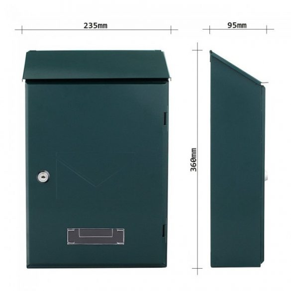Cutie poștală Pisa verde