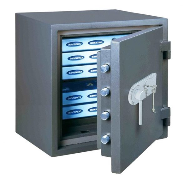 Seif antiefracție antifoc FireProfi 50 Premium cheie