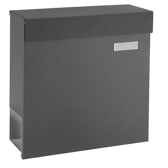 Cutie poștală Kensington negru cu suport ziare