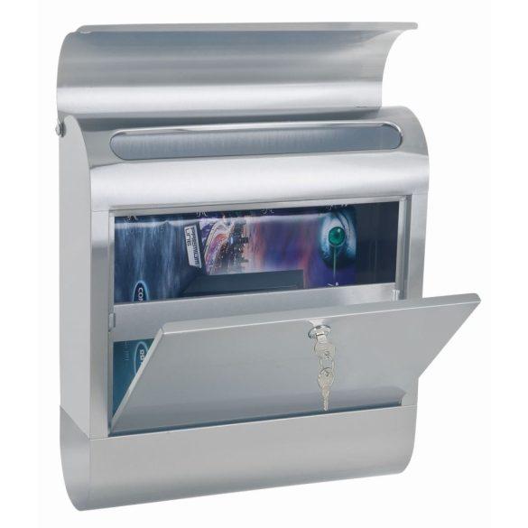 Cutie poștală Rondello INOX  cu suport ziare