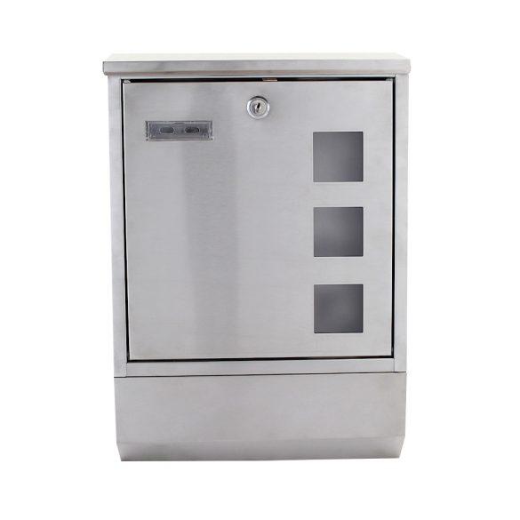 Cutie poștală Corto INOX  cu suport ziare