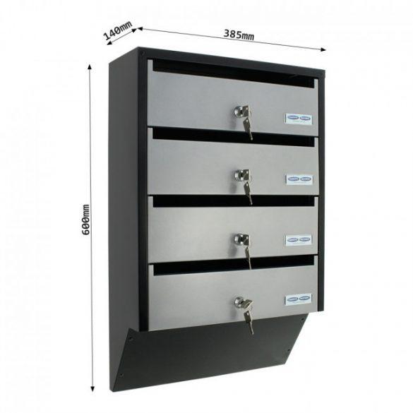 Cutie poștală Depot 4 Argintiu/ Negru