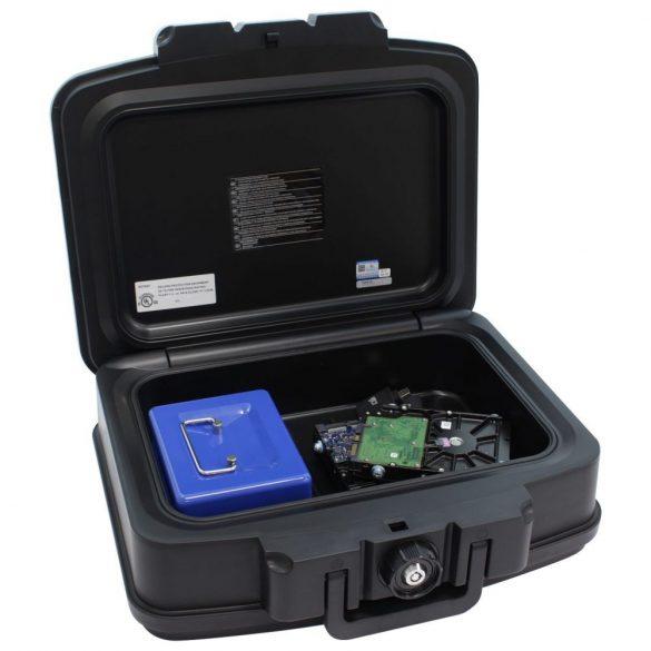 Casetă Anti-foc FIRE DATA BOX 2  închidere pe cheie-Neagră