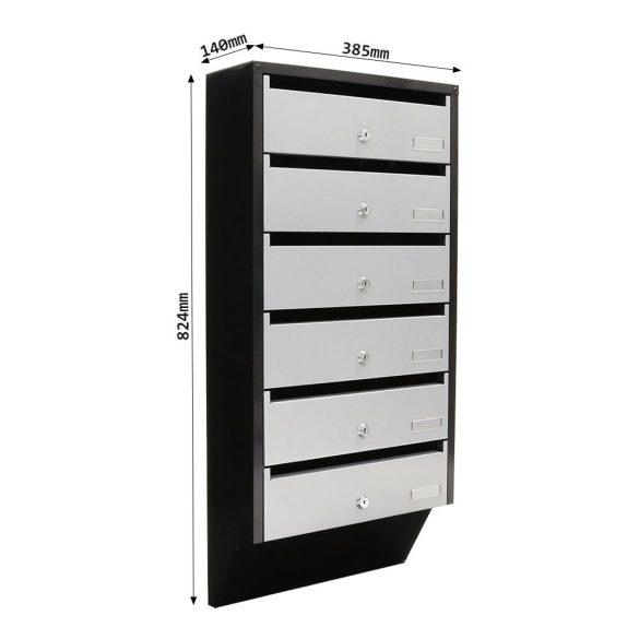 Cutie poștală Depot 6 Argintiu/ Negru