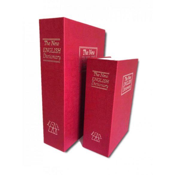 Casetă tip carte de valori  MINI Booksafe rosu